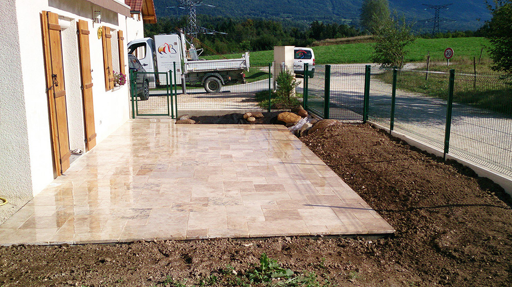 Terrasse Travertin Forum : terrasse en pierre naturelle travertin WB Am u00e9nagements